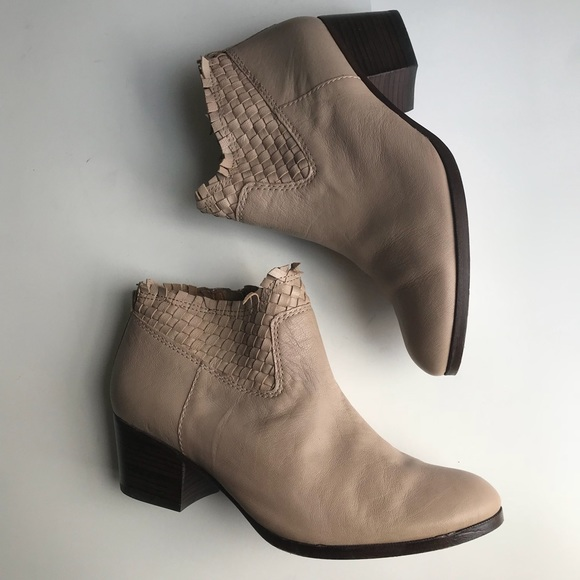 381b03eea2c Coach Shoes   Weaved Leather Tan Women Booties Size 8   Poshmark